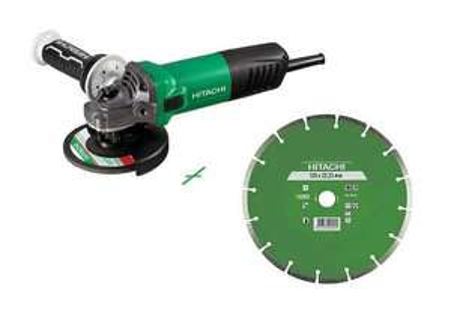 Meuleuse électrique filaire Hitachi G13SW avec Poignée Anti-vibration - 125mm, 1200w + Disque Diamant Universel