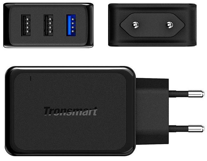 Chargeur Tronsmart W3PTA - 42W, 3 Port USB avec 1 Quick Charge 3.0
