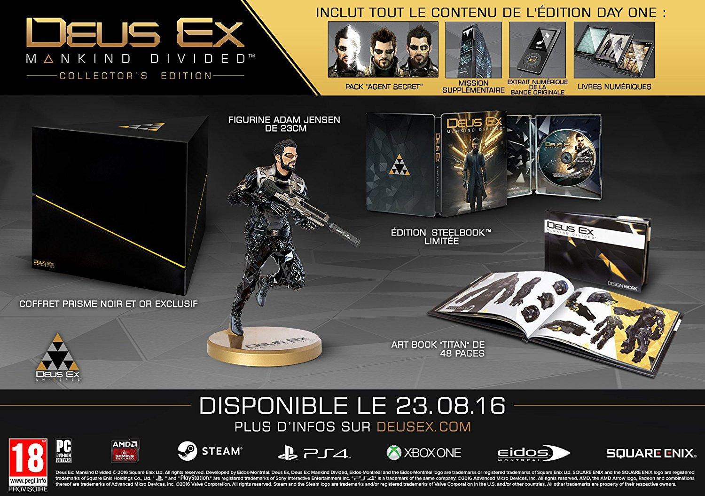 Deus Ex : Mankind Divided - édition collector sur Xbox One
