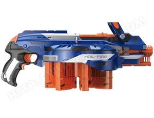 Minigun Nerf Hailfire - Capacité de 144 fléchettes