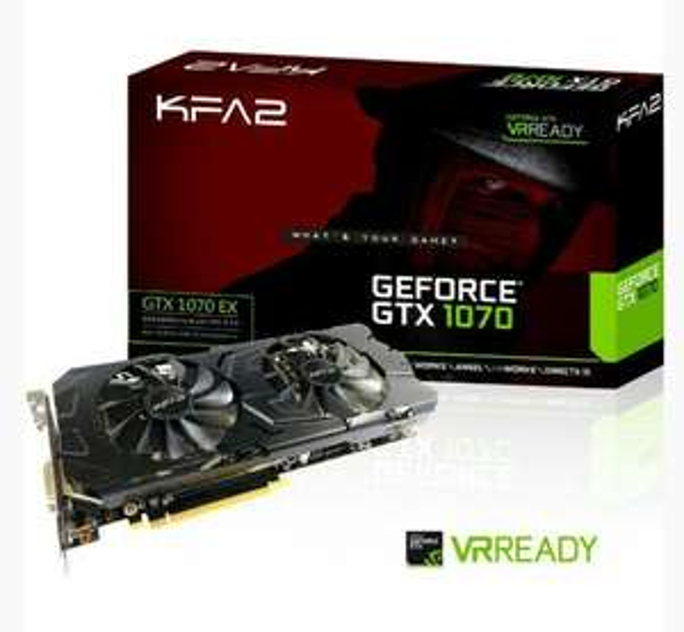 Carte graphique KFA2 GeForce GTX 1070 EX - 8 Go + Gears of war 4 offert