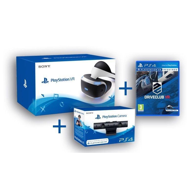 Pack Sony - Casque de Réalité Virtuelle PlayStation VR + PlayStation Caméra + DriveClub VR sur PS4