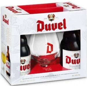 Coffret de 2 bières Duvel (33 cl) + 1 verre