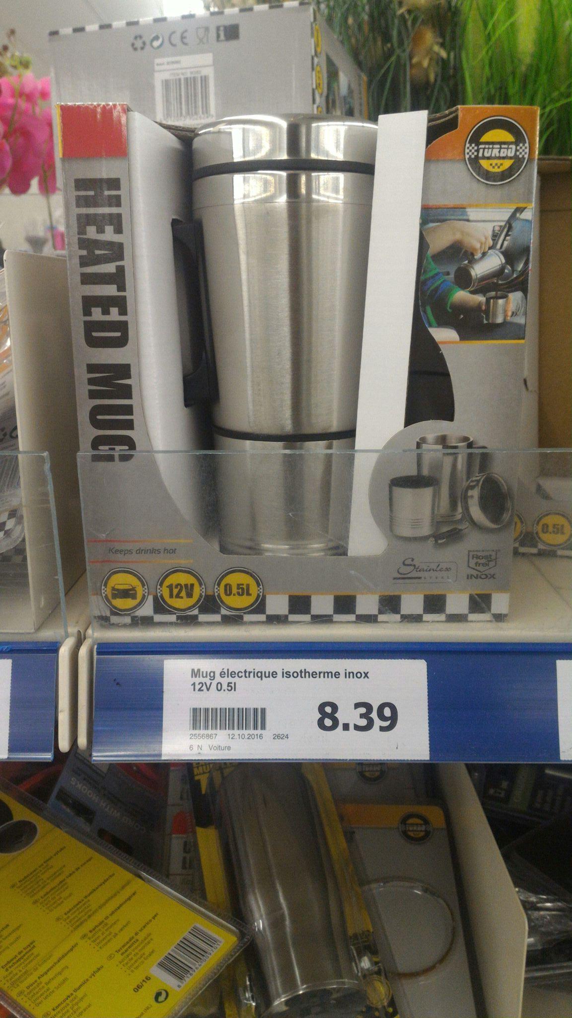Mug isotherme chauffant 12v