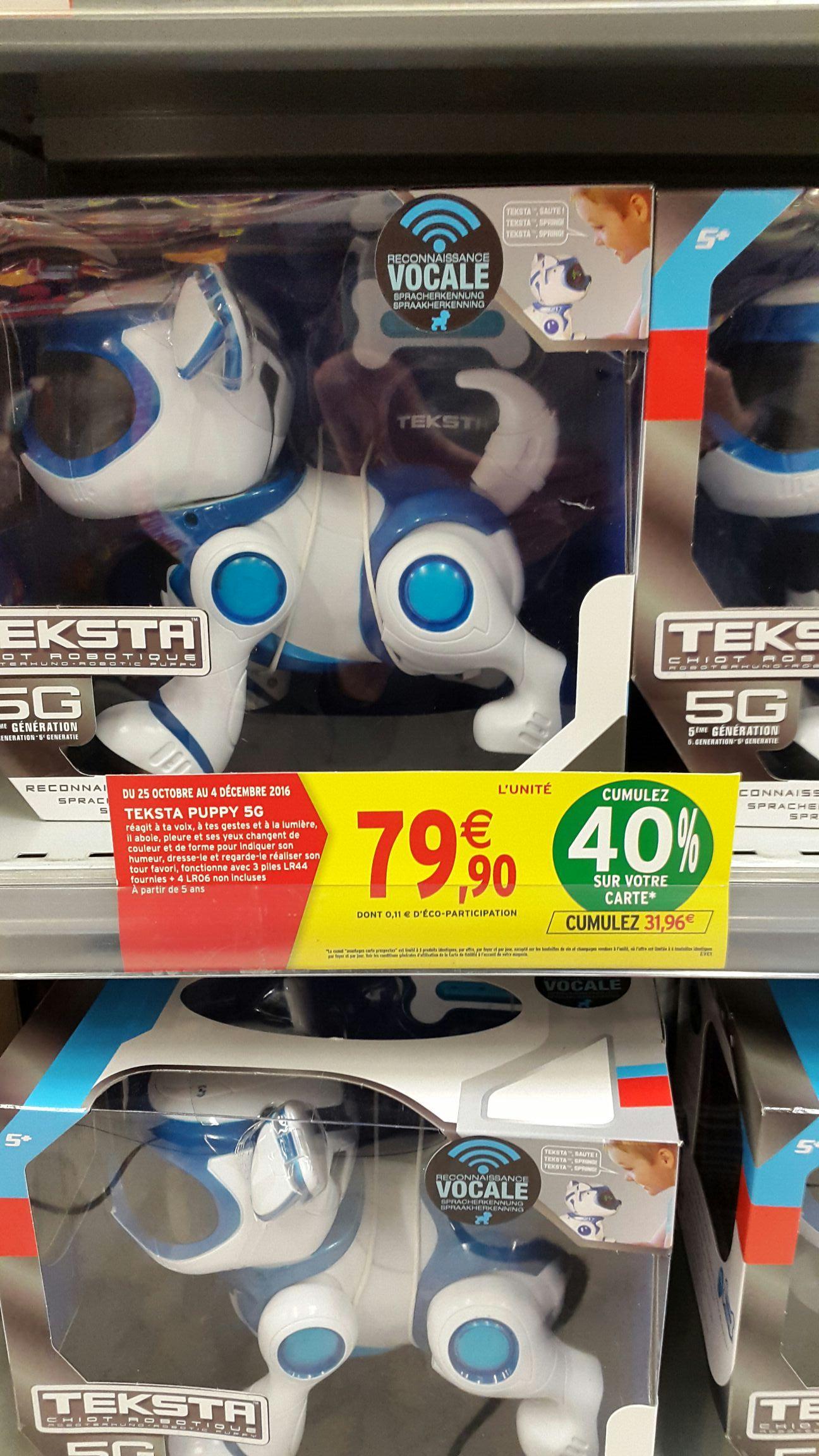 Robot chiot Teksta Puppy 5G (avec 31.96€ sur la carte de fidélité)