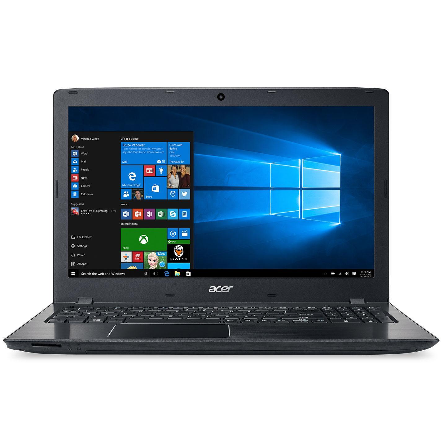 """PC Portable 15.6"""" Acer Aspire E5-575-38JY - i3-6100U, Full HD, SSD 128 Go, RAM 4 Go, Windows 10"""