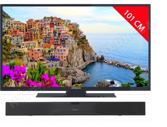 """TV 40"""" SMART TV Hitachi 40F501HB1T62 - LED, Full HD + Barre de son AXS014BT"""