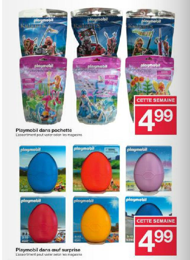 Sélection de produits en promotion - Ex: Pochette Playmobil ou Oeuf Surprise