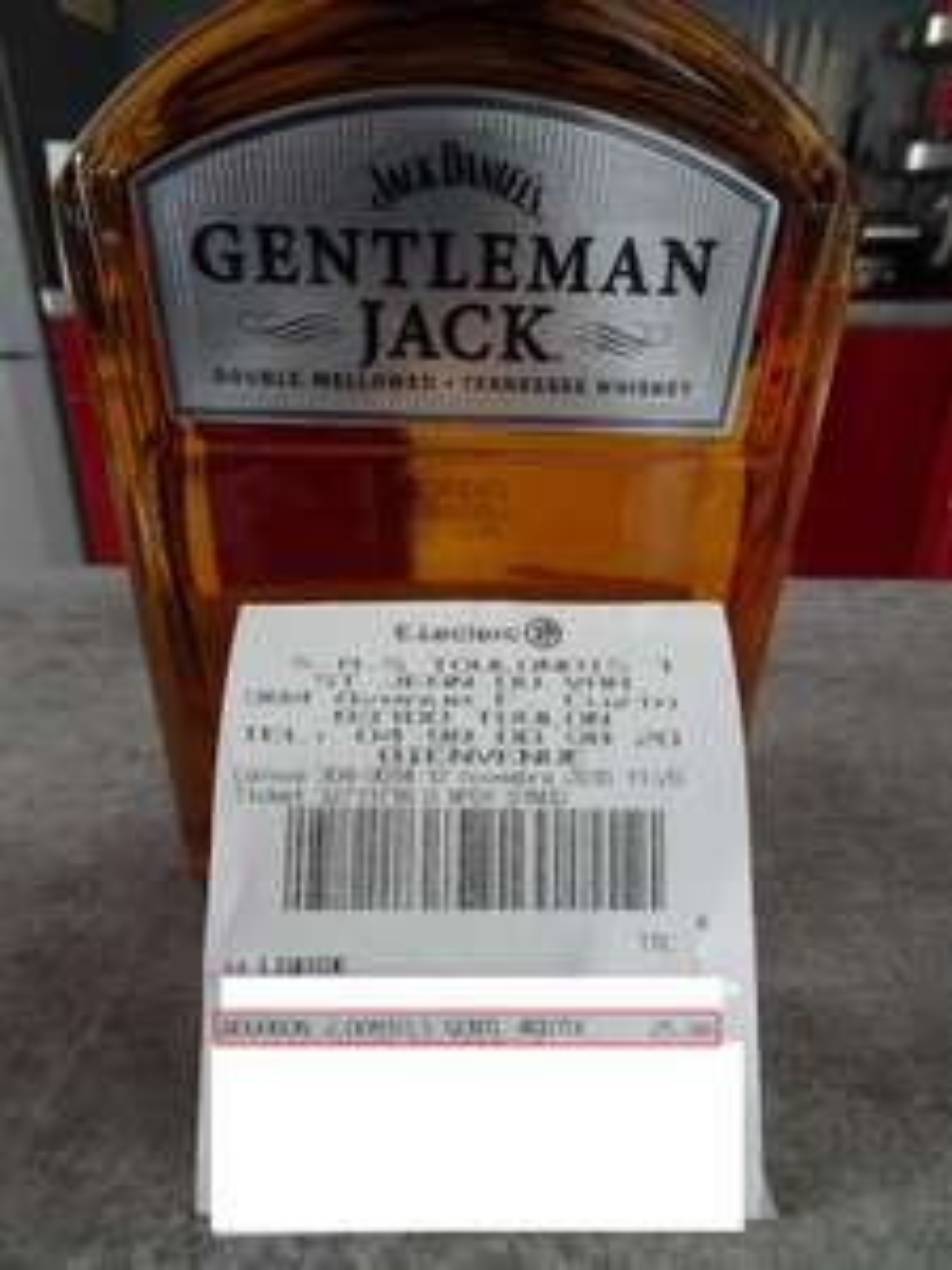 Bouteille de whisky Jack Daniel's Gentleman - 70cl, 40°