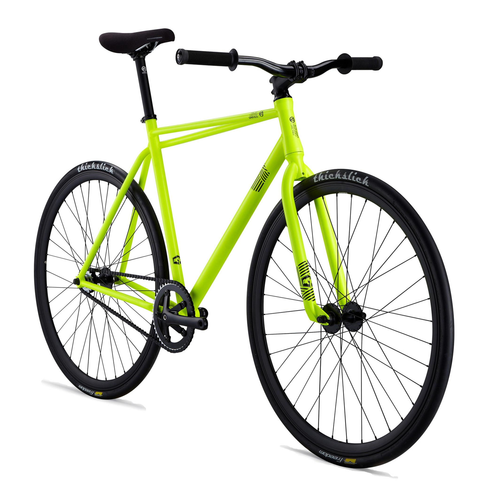 Vélo pignon fixe Commencal Acid 2013 Jaune Neon