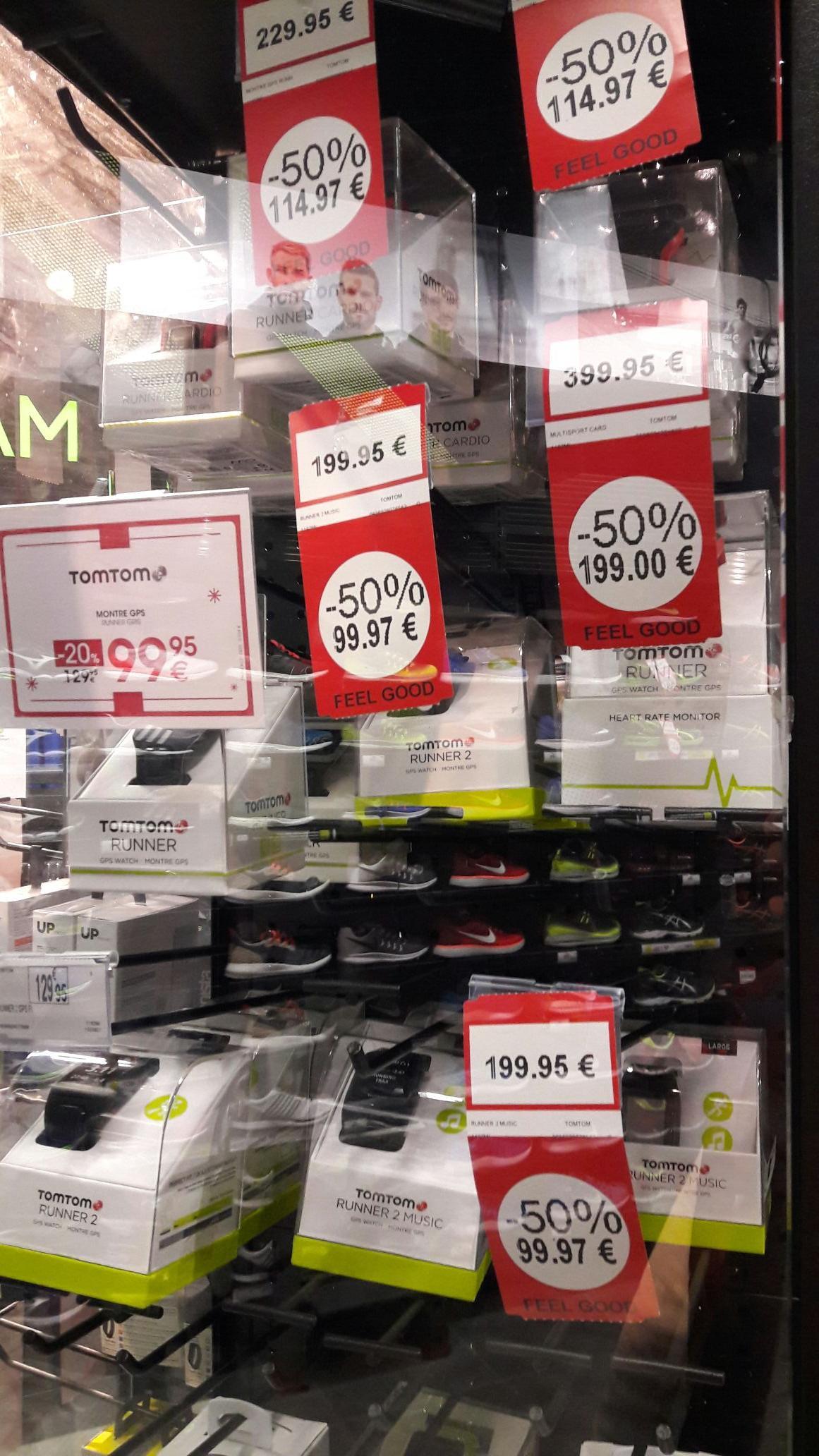 -50% sur une sélection de montres GPS TomTom - Ex : TomTom Runner 2 Music