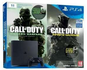 Console Sony PS4 Slim 1 To + 2ème manette + Call of Duty : infinite warfare legacy édition + Battlefield 1