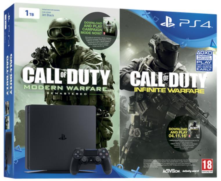 Sélection de packs PS4 en promo - Ex: Console Sony PS4 Slim 1To + Call of Duty: Infinite Warfare modern warfare