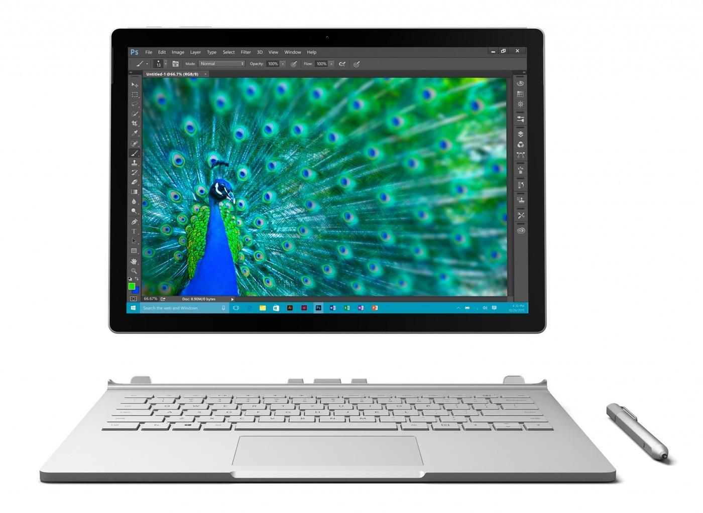 """15% de réduction sur les Surface Book et Surface Pro - Ex: PC portable hybride 13.5"""" Microsoft Surface Book - 128 Go, i5"""