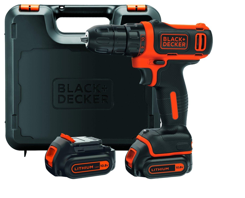 Coffret visseuse sans fil Black+Decker BDCDD12KB-QW - 10.8 V, avec 2 batteries 1.5 Ah