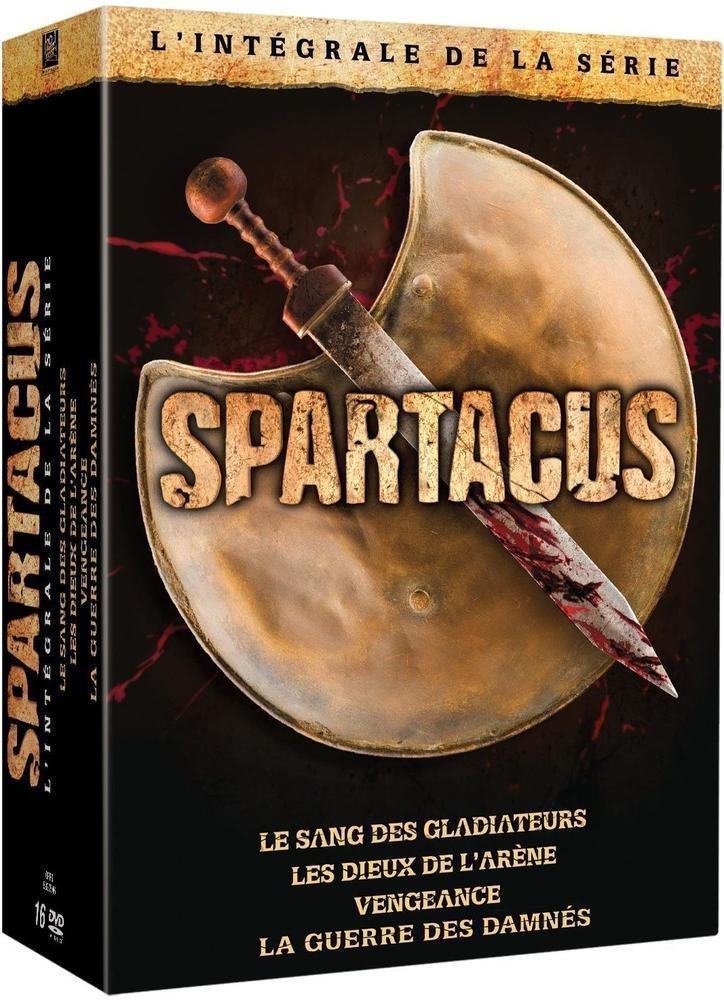 Coffret DVD Spartacus - L'intégrale de la série : Le sang des Gladiateurs + Les dieux de l'arène + Vengeance + La guerre des damnés