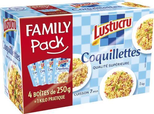 Sélection de produits d'épicerie en promotion - Ex : lot de 4 paquets de pâtes Lustucru (différents types, 250 g)