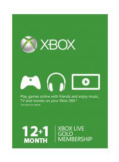 Carte Xbox Live Gold 12 + 1 mois
