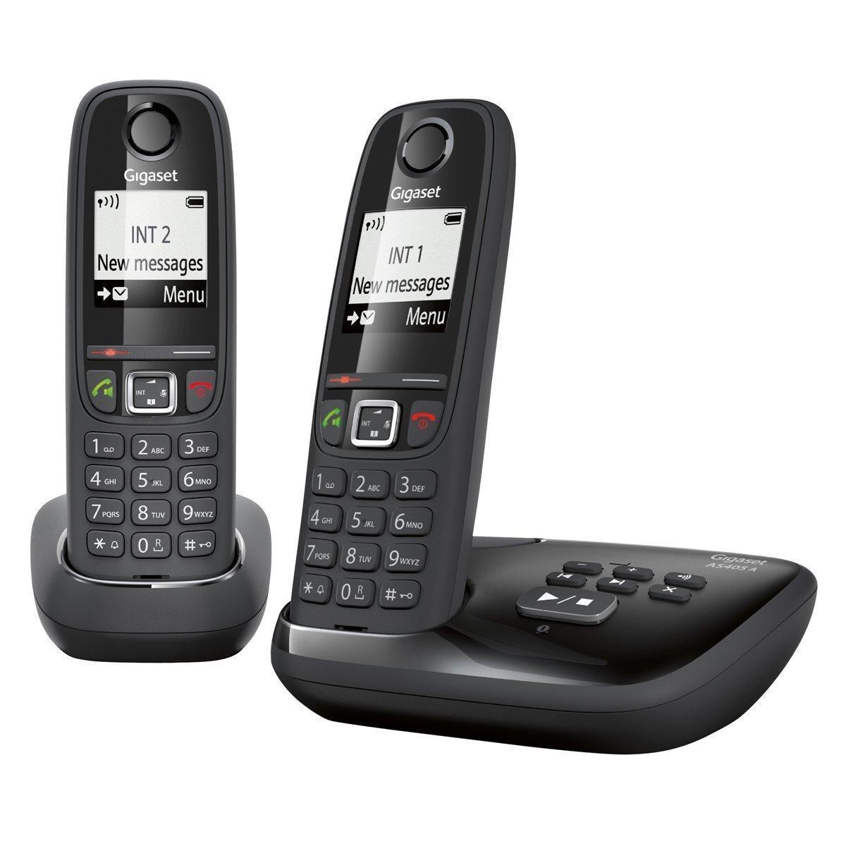Sélection de télephones Gigaset en promo - Ex : Gigaset AS405A Duo avec répondeur (via ODR)