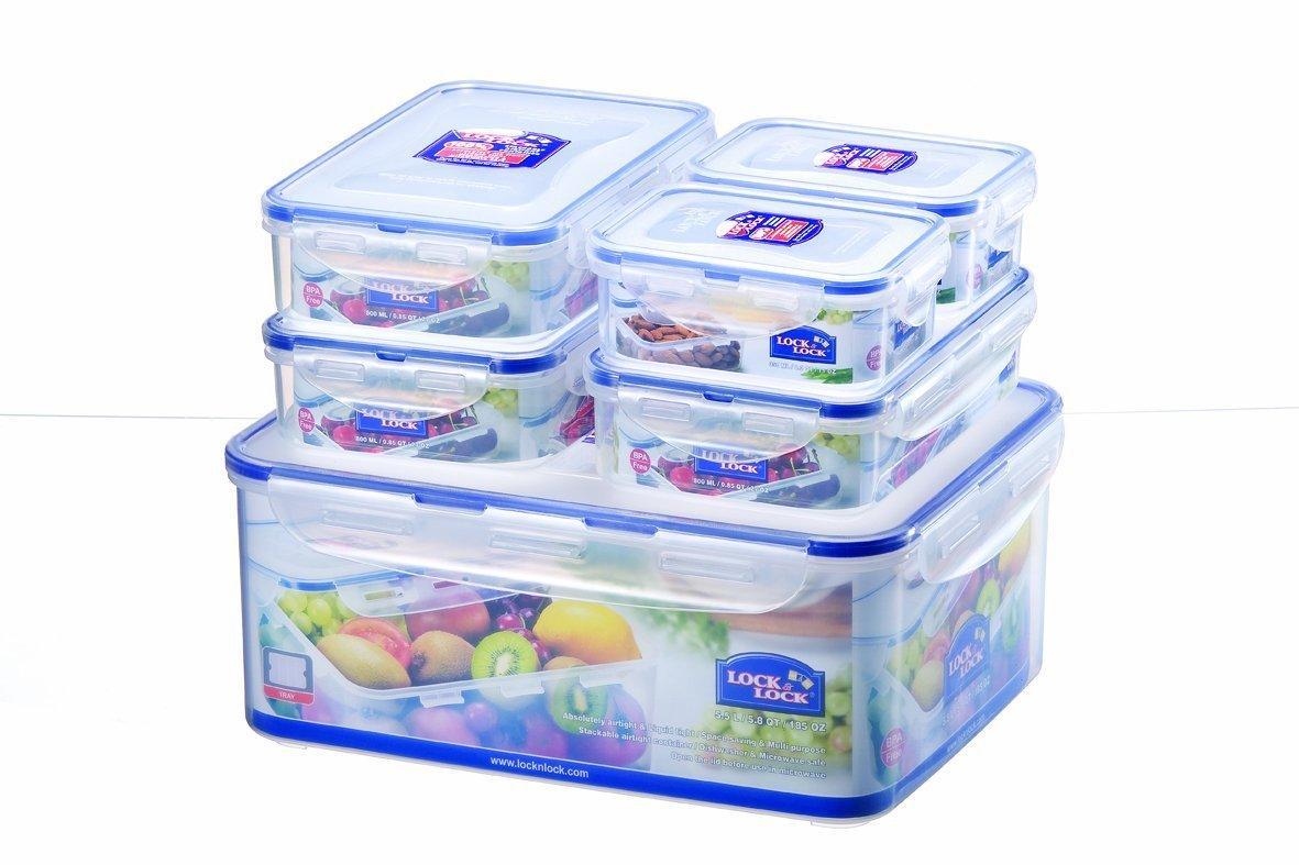Lot de 6 boîtes alimentaires Lock & Lock HPL836SB
