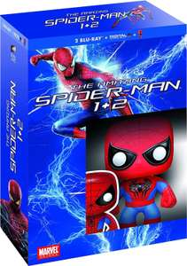 Coffret blu-ray : The Amazing Spider-Man + The Amazing Spider-Man : Le destin d'un héros + figurine Funko Pop