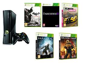 Console XBOX 360 250 Go + 5 jeux (Gears Of War Judgement, Halo 4, Forza Horizon...)