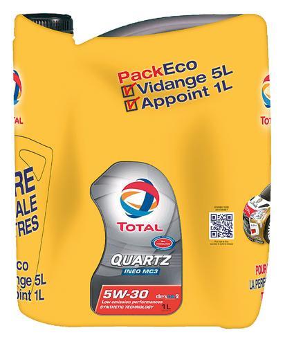 Sélection d'huiles moteur Total en promotion - Ex: Bidon d'huile Activa 5000 15W40 - 7L