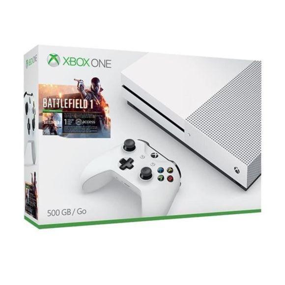Console Microsoft Xbox One S 500go + Battlefield 1 via site mobile et appli