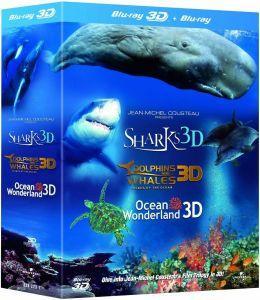 Coffret Blu-ray 3D Trilogie Jean-Michel Cousteau