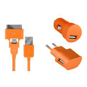 Pack Charge 3 en 1 Micro USB Colorblock (Plusieurs coloris) / Via Buyster