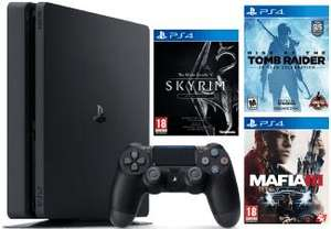 Pack PS4 Slim 500 GB + Skyrim Special Edition + Rise of the Tomb Raider + Mafia III