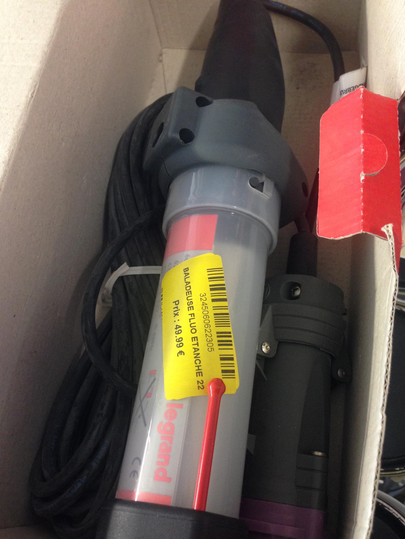 Sélection de baladeuses de chantier Legrand en promotion - Ex : 24 V, 26 W fluorescent, hypra, 10 m