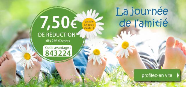 7,5€ de réduction pour 25€ d'achats