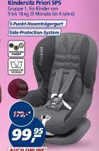 Siège Bébé Confort Priori SPS pour Autos - Groupe 1
