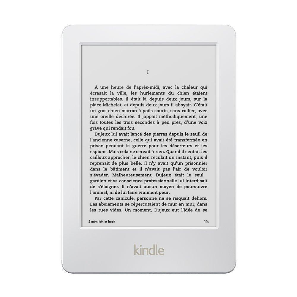 """Liseuse 6"""" Kindle - Wifi, Antireflet, Reconditionnée (Noire ou blanche)"""