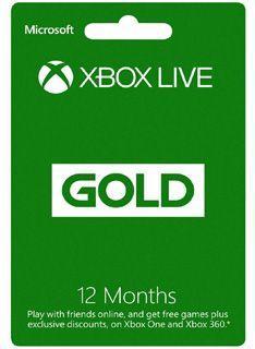 Abonnement Xbox Live Gold d'un an