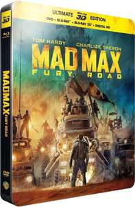 Blu-ray 3D Mad Max: Fury Road + steelbook (avec BluRay + DVD + version numérique)