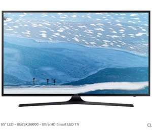 "TV 65"" Samsung UE65KU6000 - LED, 4K UHD, (via ODR de 275€)"