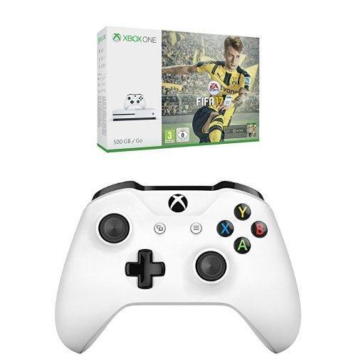 Console Xbox One S 500 Go + Fifa 17 (Dématérialisé) + Deuxième manette