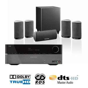 Pack home cinéma Harman Kardon : Ampli AVR 158 + Kit d'enceintes 5.1 HKTS5