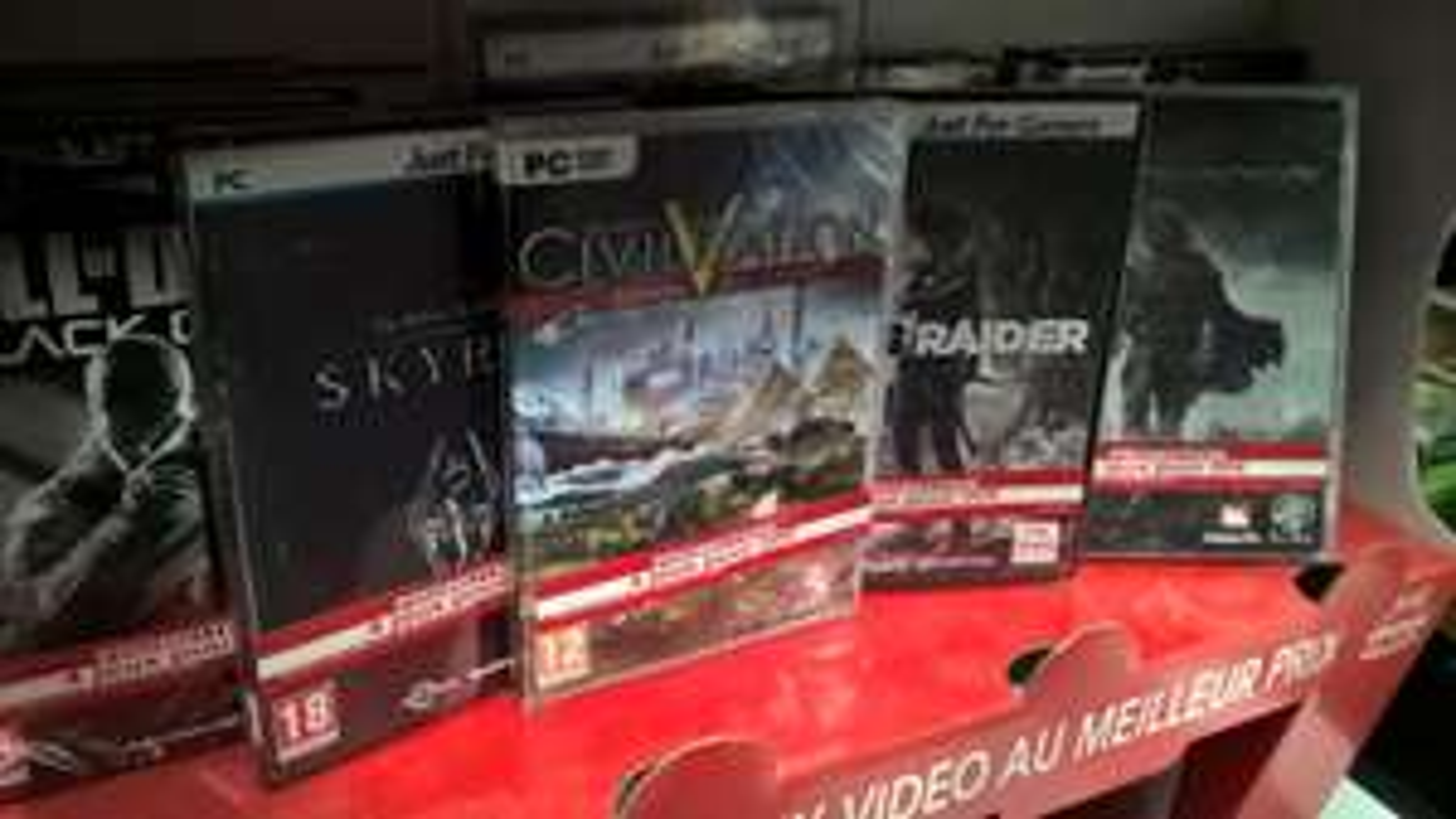 4 Jeux au choix parmi une sélection sur PC - Ex: Call of Duty Black Ops 2, Civilization V, Tomb Raider et Skyrim