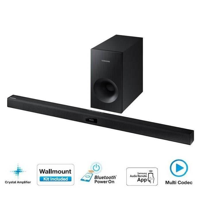 Barre de son Bluetooth 2.1 Samsung HW-H355 Noir - 120w (Via ODR 20%)