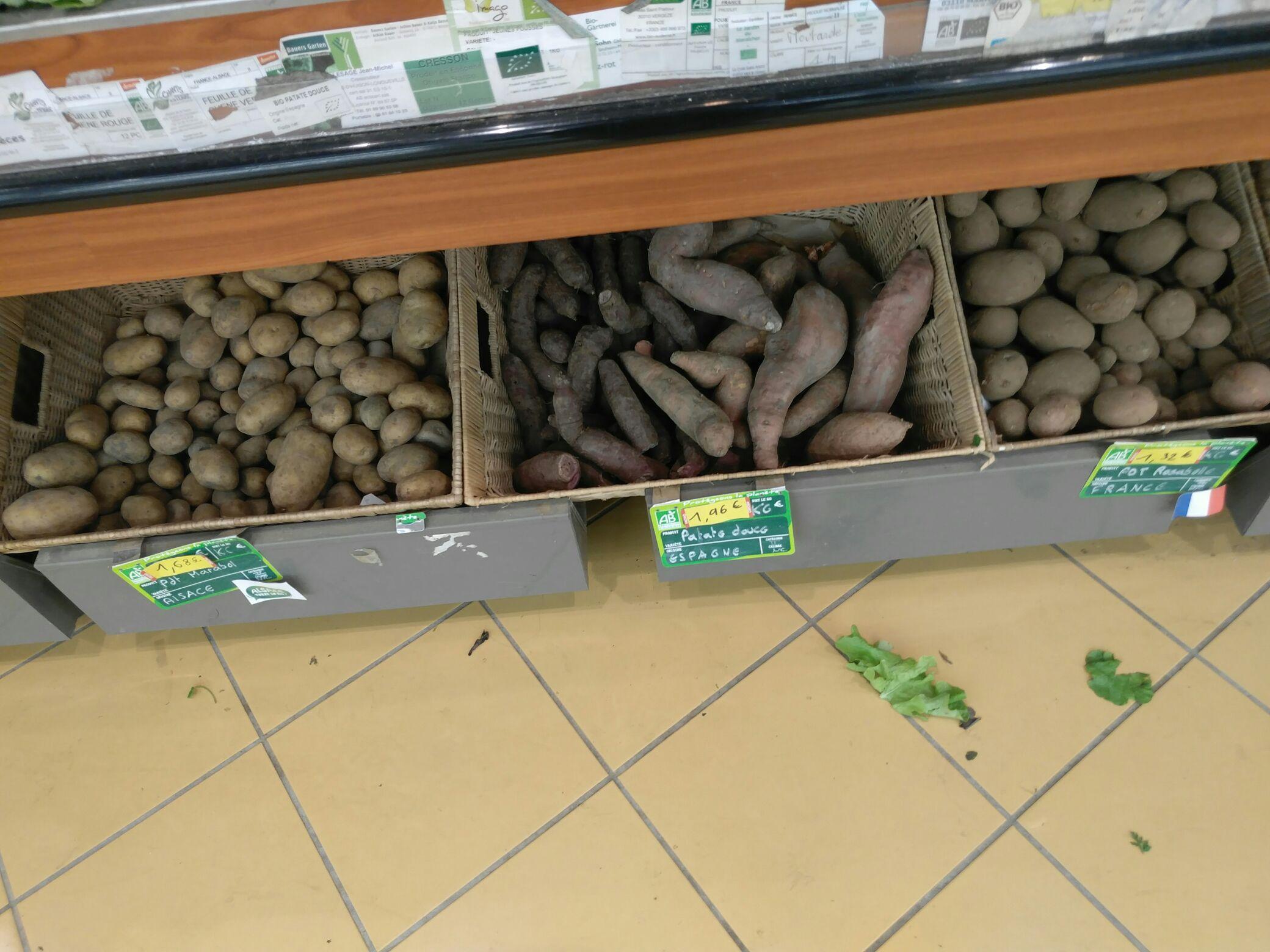 Tous les Fruits & légumes bio prix coûtant - Ex : Le kilo de patates douces