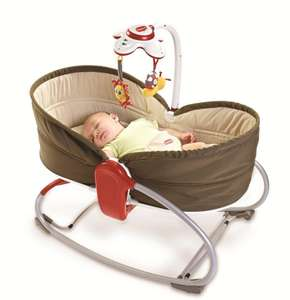 [Premium] Transat & Balancelle Tiny Love Rocker Napper 3 en 1 - Marron