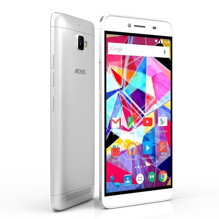 """Smartphone 5.5"""" Archos 55 Diamond Plus - 16Go, Full HD, Silver"""