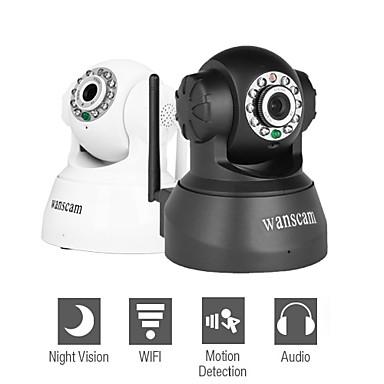 Caméra de surveillance IP sans fil avec contrôle d'angle (détection de mouvement, vision nocturne, DDNS gratuit)