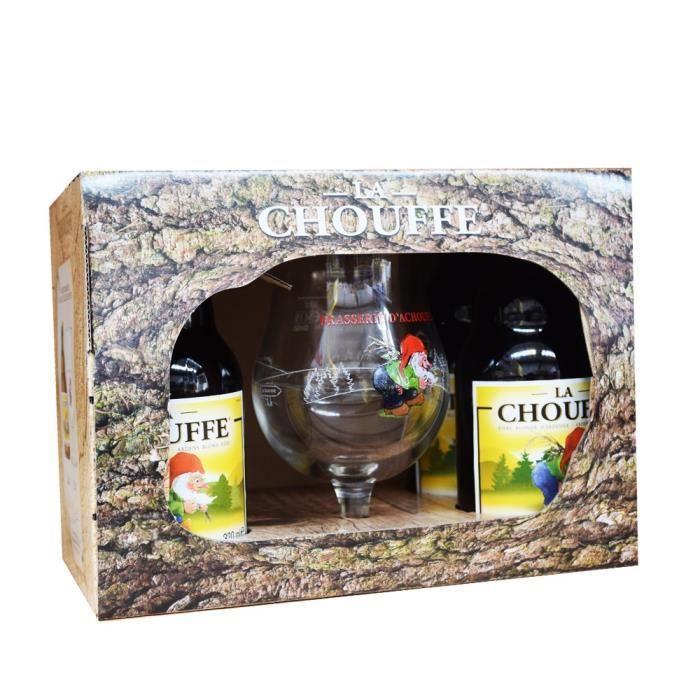 Pack 4 x bierre 33 cl Chouffe + verre