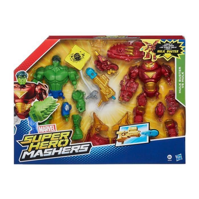 Selection de jouets gratuits - Ex : Marvel Iron Man Mk 44 Vs Hulk Hero Mashers (via 27.93€ sur la carte)