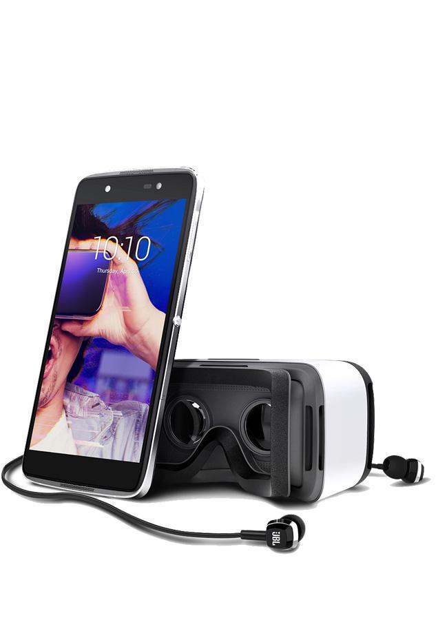 """Smartphone 5"""" Alcatel One Touch Idol 4 - Snapdragon 617, 3go RAM, 16go (via ODR de 50€ ) + Casque de Réalité Virtuelle + Écouteur JBL"""
