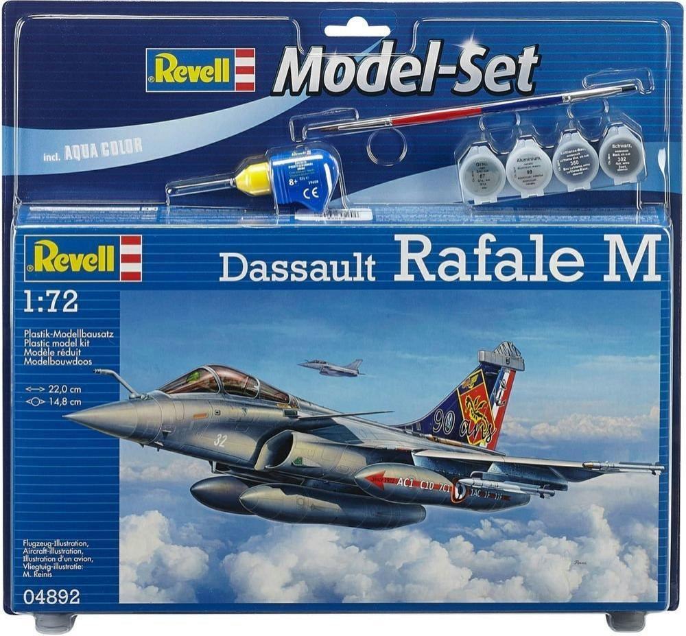 Maquette d'Aviation Revell Dassault Rafale M 64892 à l'échelle 1/72 - 73 Pièces